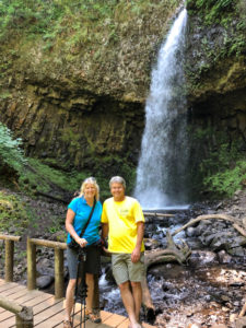 Rod and Amy by waterfall