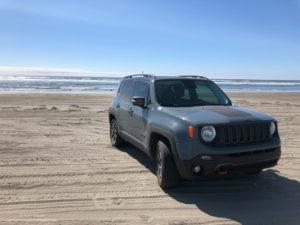 car on sand