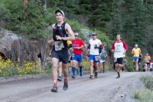 Austin Horn running Imogene Pass Run
