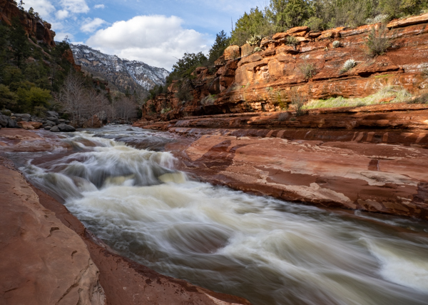 Oak Creek at Slide Rock State Park, water